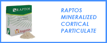 Raptos Mineralized Cortical Particulate