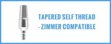 Tapered Self Thread - Zimmer Compatible