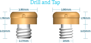 bar attachment drill and tap dimensions