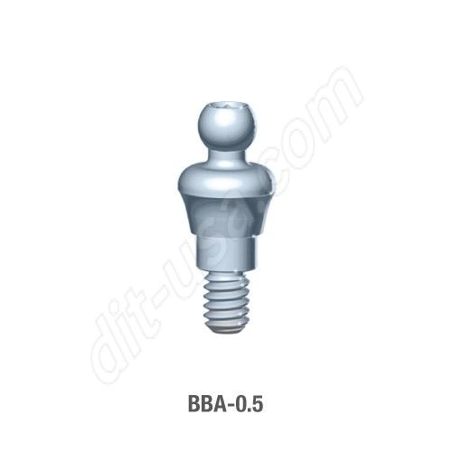 0.5mm Cuff O-Ball Abutment for Standard Platform Internal Hex Connection