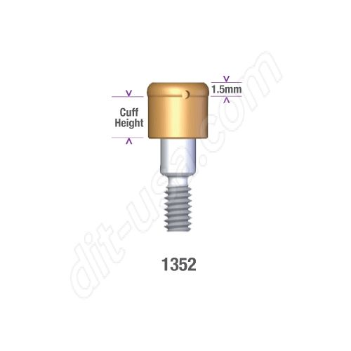 DSI DIO 3.8 SUBMERGED LOCATOR ABUTMENT x 2mm cuff #1352