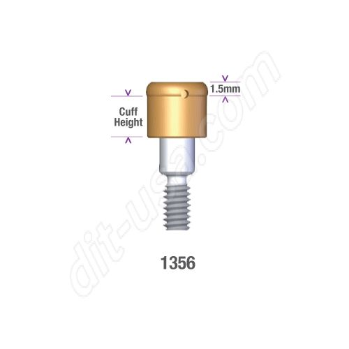 DSI DIO 3.8 SUBMERGED LOCATOR ABUTMENT x 6mm cuff #1356