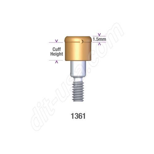 DSI DIO 4.5/5.3 SUBMERGED LOCATOR ABUTMENT x 1mm cuff #1361