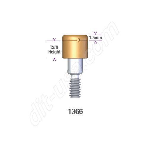 DSI DIO 4.5/5.3 SUBMERGED LOCATOR ABUTMENT x 6mm cuff #1366