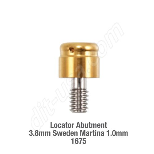 Locator Abutment 3.8mm Sweden Martina 1.0mm