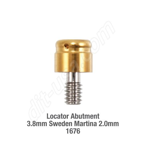Locator Abutment 3.8mm Sweden Martina 2.0mm