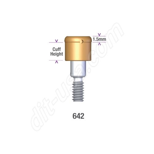 Internal Morse Taper Tissue Level Compatibles 4.1 / 4.8mm x 5mm Locator Implant Abutment #8954