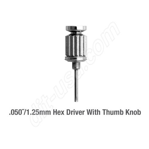 """050"""" HEX DRIVER WITH THUMB KNOB"""