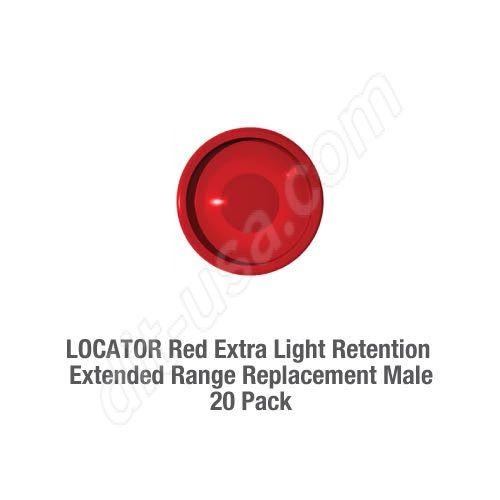 LOCATOR Red Extra Light Retention Extended Range Replacement Male - (20 pack)