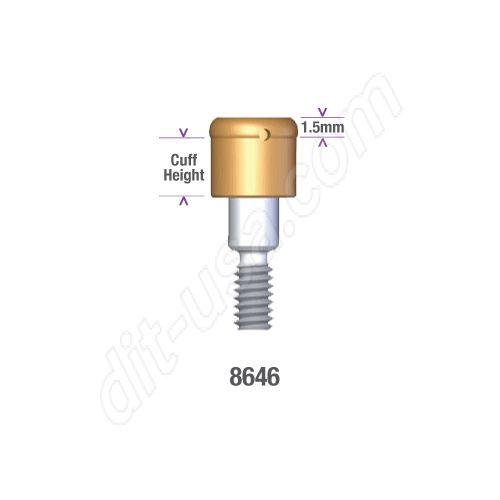 Locator STERI-OSS HEX LOCK (HL) 3.25mm DIAMETER x 1.5mm Implant Abutment #8646 (ea)