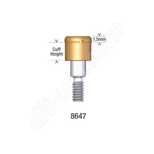 Locator STERI-OSS HEX LOCK (HL) 3.25mm DIAMETER x 2.5mm Implant Abutment #8647 (ea)