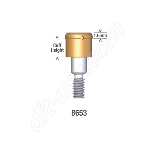 Locator LifeCore SUSTAIN 4.0mm/4.7mm x 2mm Implant Abutment #8653 (ea)