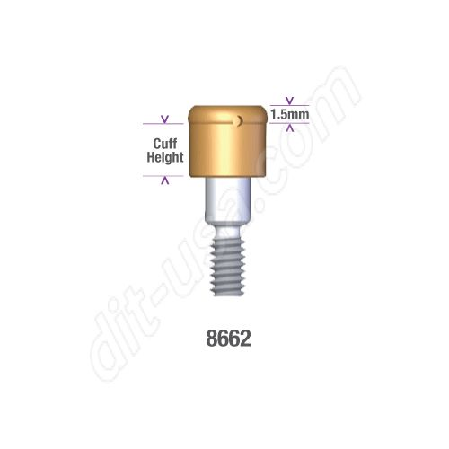 Locator MIS 3.75, 4.2mm DIAMETER x 1mm INTERNAL HEX IMPLANT (STANDARD PLATFORM) Implant Abut #8662