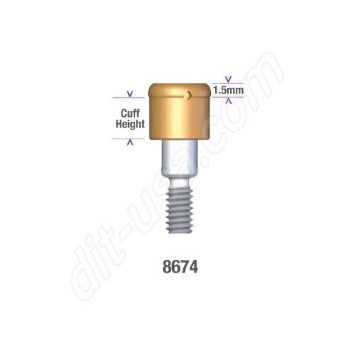 Locator MIS 5.0mm DIAMETER x 3mm INTERNAL HEX IMPLANT (WIDE PLATFORM) Implant Abutment #8674 (ea)