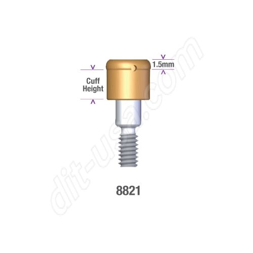 Locator MIS / 3I 5.0mm WP EXTERNAL HEX IMPLANT x 2mm Implant Abutment #8821 (ea)