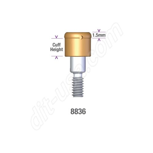 Locator STERI-OSS REPLACE (EXTERNAL HEX) and Compatibles 5.0mm DIAMETER x 2mm Implant Abutment #8836