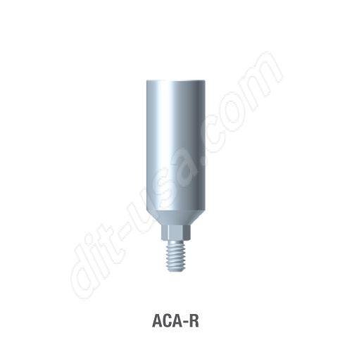 Round Profile Straight Titanium preparable Abutment for Standard Platform Internal Hex Connection