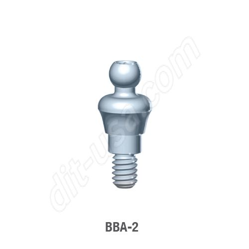 2mm Cuff O-Ball Abutment for Standard Platform Internal Hex Connection