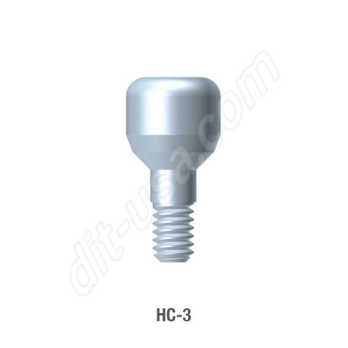 3mm Healing Abutment for Standard Platform Internal Hex Connection