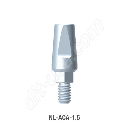 1.5mm Cuff Straight Titanium Abutment for Narrow Platform Conical Connection