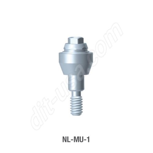 1mm Cuff Straight Multi-Unit Abutment for Narrow Platform Conical Connection.