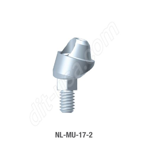 2mm Cuff 17 Degree Angled Multi-Unit Abutment for Narrow Platform Conical Connection