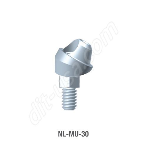 30 Degree Angled Multi-Unit Abutment for Narrow Platform Conical Connection.
