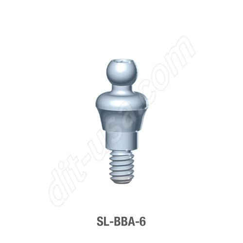 6mm Cuff O-Ball Abutment for Standard Platform Conical Connection.
