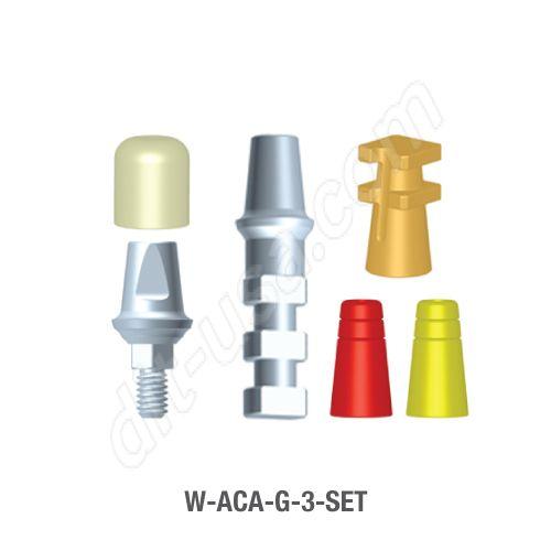 3mm Cuff Modular Abutment Set for Wide Platform Internal Hex Connection