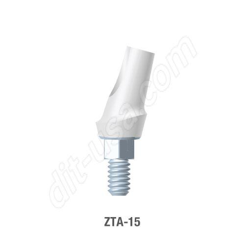 15 Degree Angled Zirconia Abutment Standard Platform Internal Hex Connection