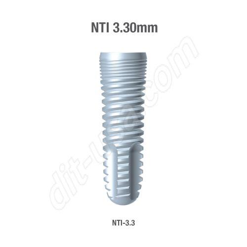 Self-Thread 3.30mm NTI Implants (Assorted Lengths)