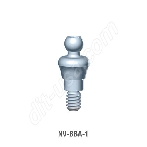 (1mm Cuff) Ball Abutment for 3.5mm Diameter Vision Tri-Lobe Implants