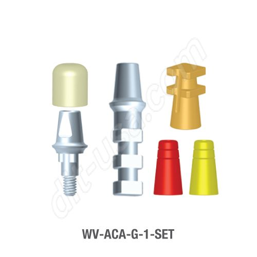 (1mm Cuff) Modular Abutment Set for 5.0mm Diameter Vision Tri-Lobe Implants
