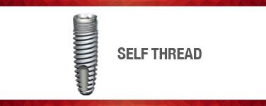 Self-Thread Implants