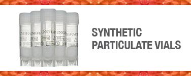 Synthetic Particulate Vials