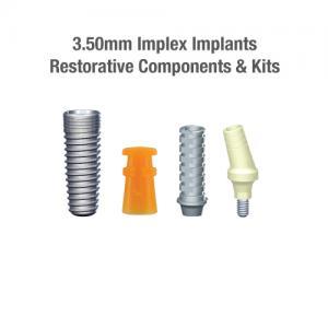 3.5mm Diameter Implex Implants, Restorative Components & Kits
