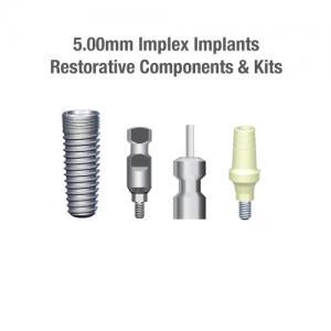 5.0mm Diametter Implex Implants, Restorative Components & Kits