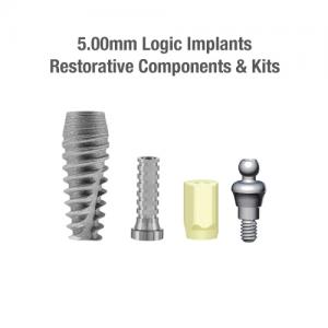 5.0mm Diameter Logic Implants, Restorative Components & Kits