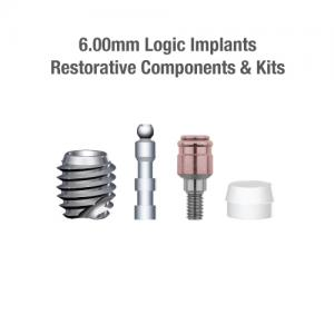 6.0mm Diameter Logic Implants, Restorative Components & Kits