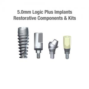 5.0mm Diameter Logic+ Implants, Restorative Components & Kits