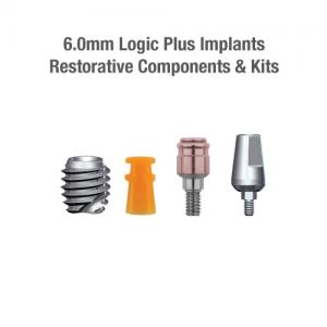 6.0mm Diameter Logic+ Implants, Restorative Components & Kits