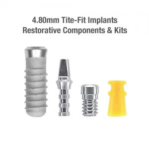 4.8mm Diameter Tite-Fit Implants (Regular), Restorative Components & Kits