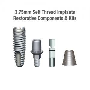 3.75mm Diameter SLT Self-Thread Implants, Restorative Components & Kits
