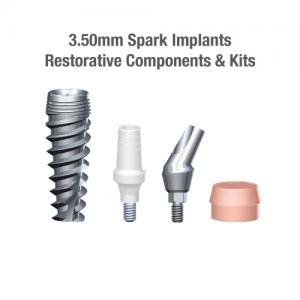 3.5mm Diameter Spark Implants, Restorative Components & Kits