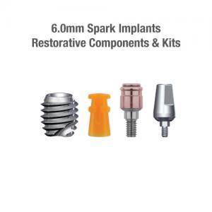 6.0mm Diameter Spark Implants, Restorative Components & Kits