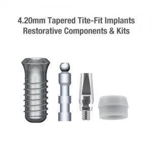 4.2mm Diameter Tite-Fit Implants, Restorative Components & Kits